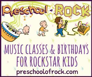 preschool of rock banner
