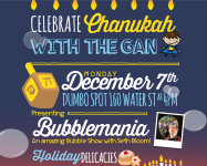Hannukah celebrations in DUMBO and Brooklyn Heights