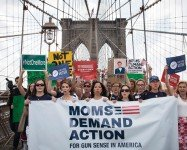 Annual march across the Brooklyn Bridge and rally for gun sense 5/7
