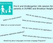 Info session about Pre-K and Kindergarten in our neighborhood 12/12