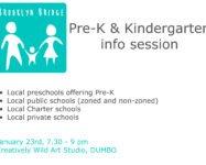 Intro to Pre-K and Kindergarten in our neighborhood 1/23