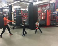 New kids boxing at Gleason's Gym in DUMBO