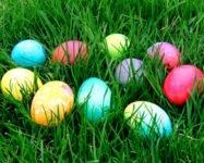 Spring egg hunts in our neighborhood