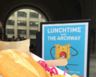 Lunchtime in DUMBO's Archway is back for the season