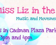 Music classes for kids 2-5 years old this summer at Cadman Plaza