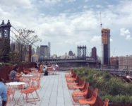 Rooftop gardens at Two Trees office buildings in DUMBO open