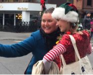 Selfies with Elves on Montague Street 11/25