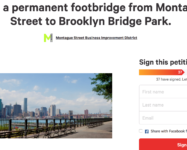 Petition to build a permanent footbridge from Montague Street to Brooklyn Bridge Park