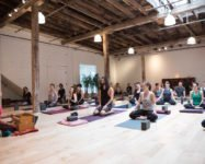 Aeriel yoga, yoga with live music and much more at Abhaya Yoga in DUMBO and Gowanus (sponsored)