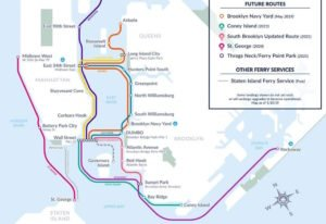 Brooklyn Navy Yard and Coney Island NYC ferry stops coming