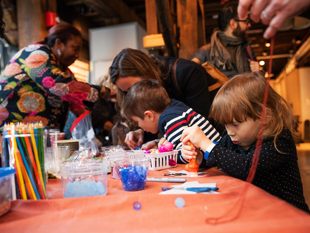 Free Saturday morning family program at Brooklyn Historical Society in DUMBO