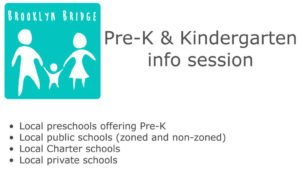"School info session ""Intro to Pre-K & Kindergarten"" on 2/12"