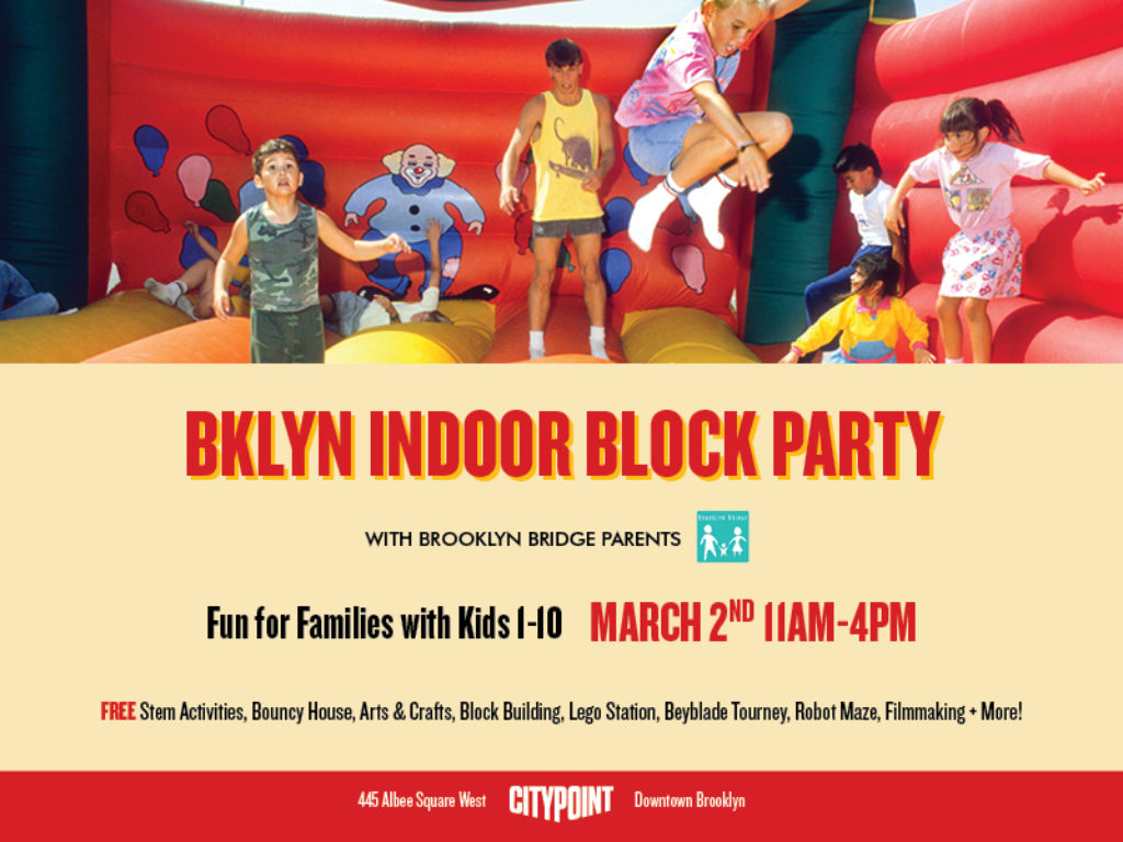 Our first ever Bklyn Indoor Block Party at City Point 3/2