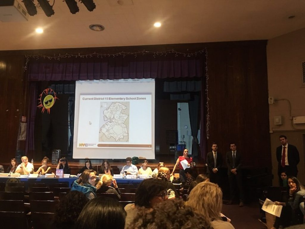 Recap of first zone change meeting at PS 32 in Carroll Gardens