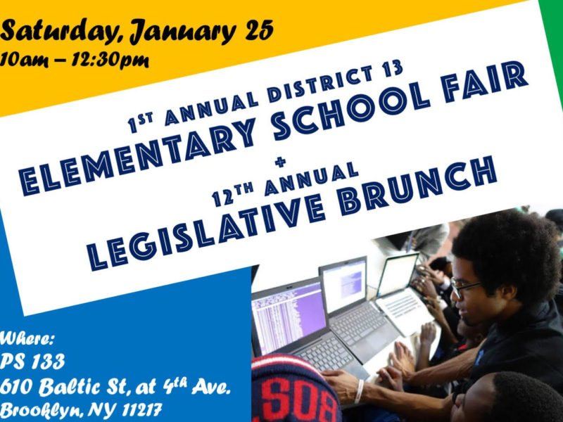 First District 13 public elementary school fair 1/25