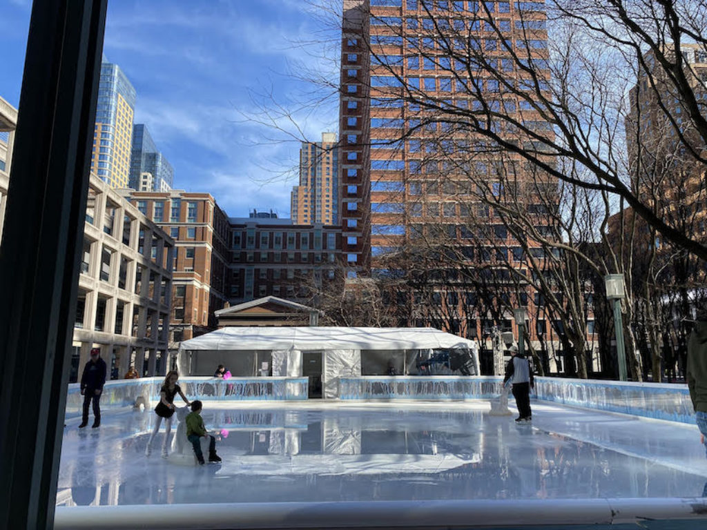 Ice skating rink open in Downtown Brooklyn