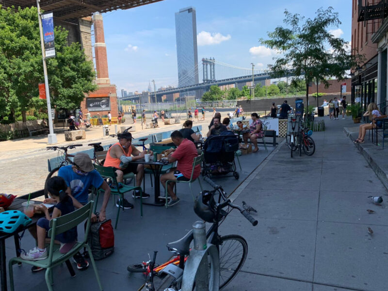 Outdoor dining in Brooklyn will return next summer