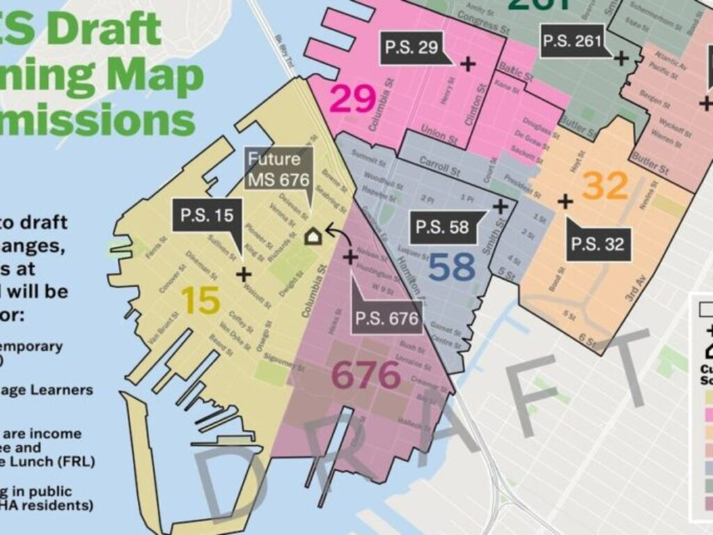 Final map for the District 15 rezoning – keeping school zones and adding admissions priorities