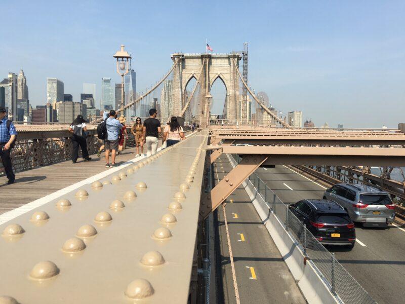 Brooklyn Bridge bike lane open