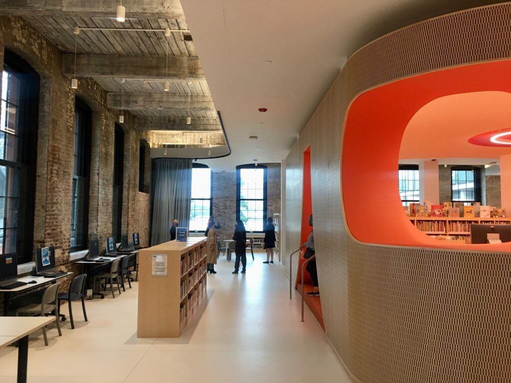 First look into DUMBO's new public library